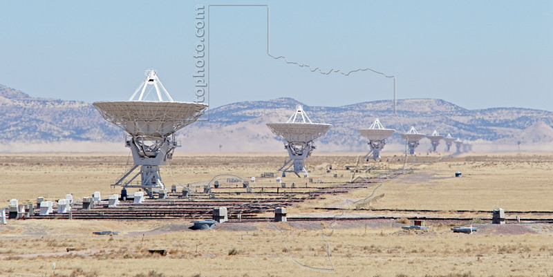Very Large Array, VLA, National Radio Astronomy Observatory,<br /> West of Socorro, NM