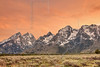 Grand Teton Mountains, Sunset<br /> Grand Teton National Park, Wyoming