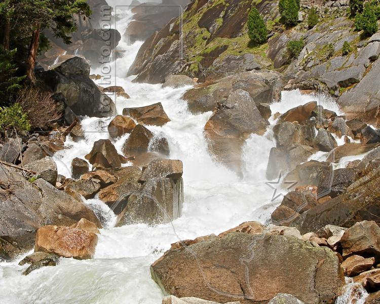 Rapids on Merced River, Downstream of Vernal Falls,<br /> Yosemite National Park, 2011