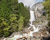 Vernal Falls, Rapids, and Hikers,<br /> Yosemite National Park, 2011