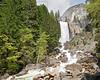 Vernal Falls, Rapids, and Hikers,<br /> Yosemite National Park, 2011