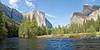 Ribbon Fall, El Capitan, Merced River, and Bridalveil Fall, <br /> Yosemite National Park, 2011
