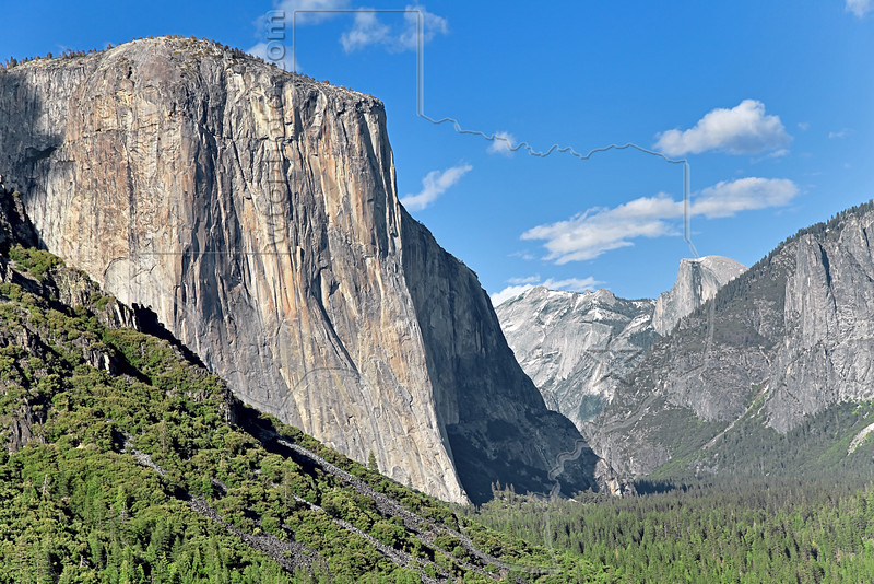 Tunnel View - El Capitan and Half Dome<br /> Yosemite National Park, 2011