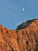 Bridge Mountain an Moon at Sunset,<br /> Zion National Park, Utah