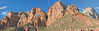 Panorama - Sandstone Mountains<br /> Zion National Park, Utah
