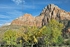 Bridge Mountain and Cottonwoods<br /> Zion National Park, Utah