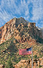 Cirrus, Sandsone, and Old Glory,<br /> Zion National Park, Utah