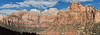 Panorama - Sandstone Mountains,<br /> Zion National Park, Utah