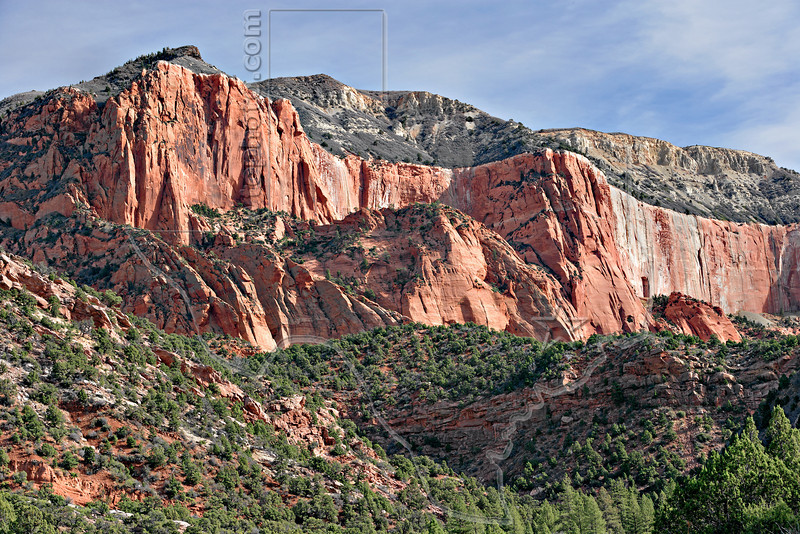 Sandstone Mountain,<br /> Kolob Canyons<br /> Zion National Park, Utah