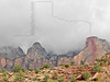 Stormy Weather and Sandstone Formations,<br /> Zion National Park, Utah
