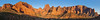 Panorama (5:1)  of Peaks in Kolob Canyon at Sunset,<br /> Zion National Park, Utah