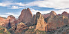Panorama - Sandstone Mountains,<br /> Kolob Canyons,<br /> Zion National Park, Utah