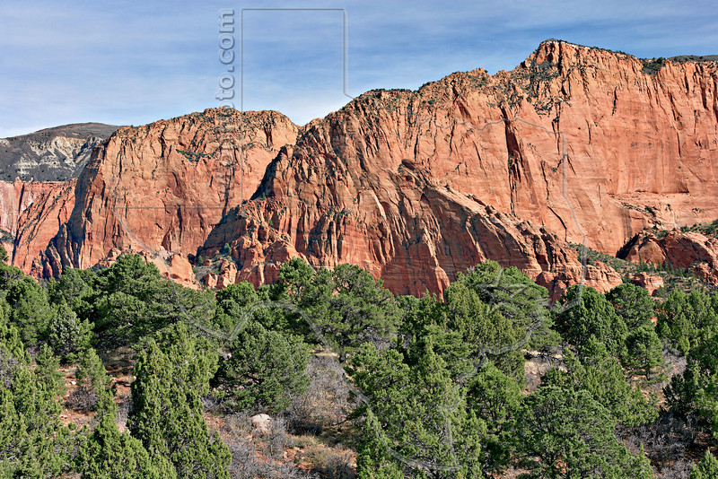 Sandstone Mountains,<br /> Kolob Canyons<br /> Zion National Park, Utah