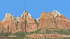 Court of the Patriarchs Peaks,<br /> Zion National Park, Utah