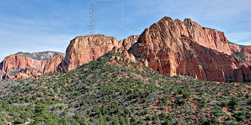 Sandstone Mountains,<br /> Kolob Canyons<br /> Zion National Park, Utah