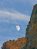 Moon, Cirrus, and Bridge Mountain, Sunset,<br /> Zion National Park, Utah