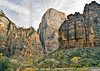 Sandstone Mountains and Climbers,<br /> Big Bend, Zion National Park, Utah