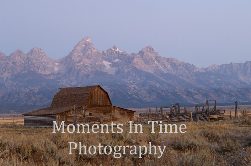 barn with Tetons behind