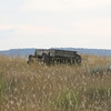 Old wagon left in Montana field