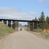 Mountain gravel road and bridge