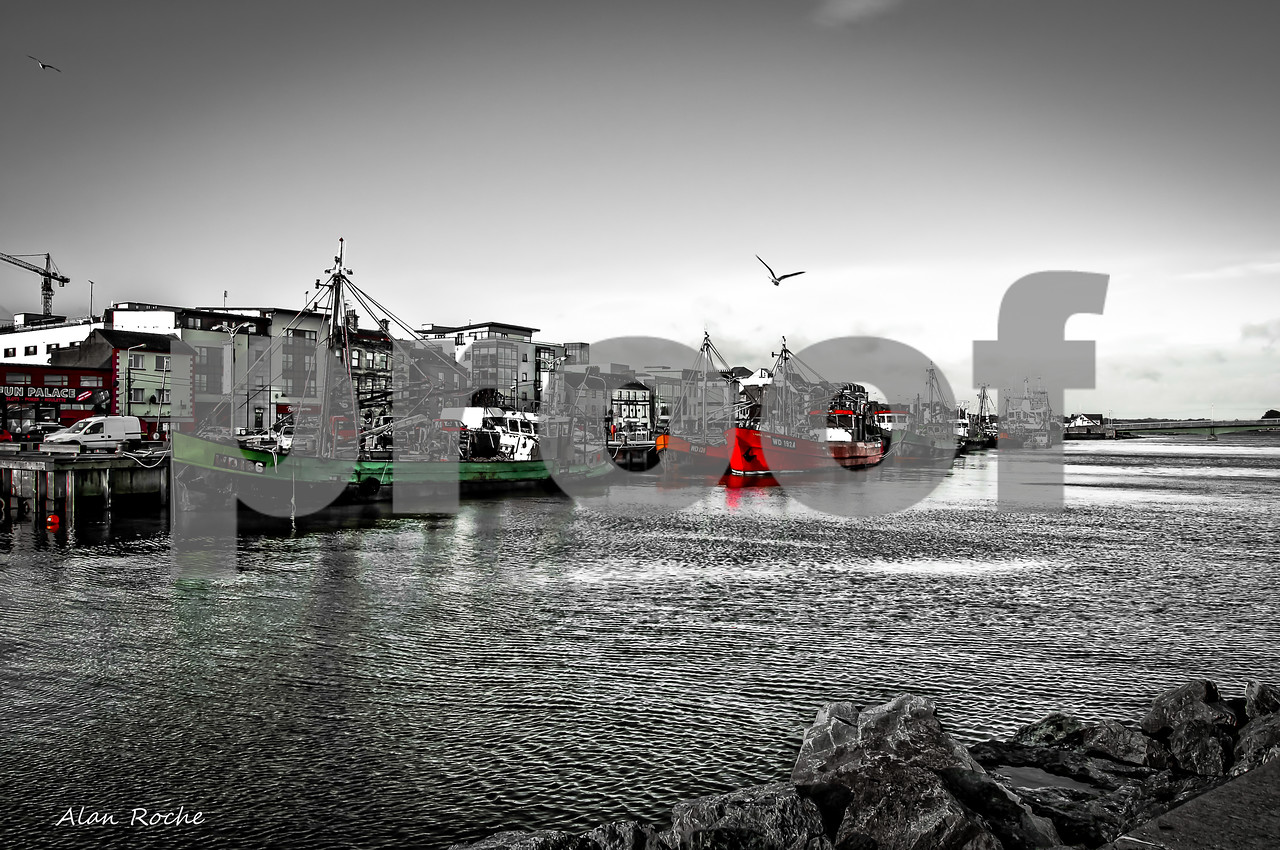 Boats on Wexford Quay..W1100<br /> <br /> <br /> <br /> WATERMARK WILL NOT APPEAR ON ANY PHOTO ORDERED ON THIS SITE.
