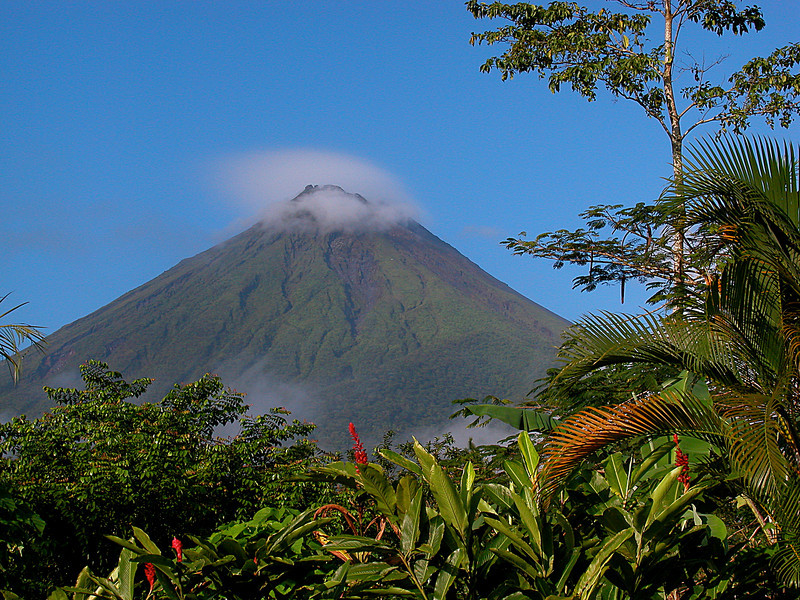 Volcan Arenal, Costa Rica as seen early in the morning on New Year's Day from a spot near the town of Fortuna.