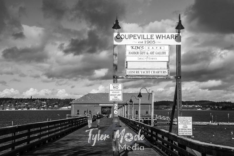 372  G Coupeville Dock BW