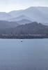 Serene Sailing Under A Smoky Sky On Whiskeytown Lake