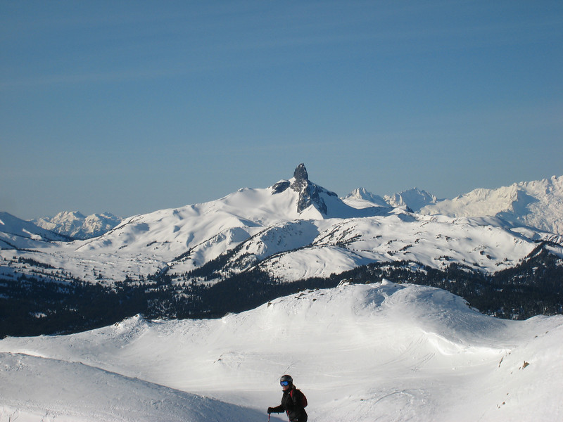 Beautiful views of Black Tusk from the top of the Peak Chair.