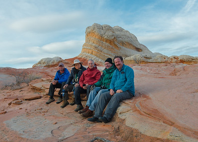 From the left, our guide Rob, Cosmas Liu, me, Scott Nagel, and Mark Rasmussen.