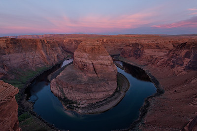 Horseshoe Bend of the Colorado River,  about a half hour before sunrise.
