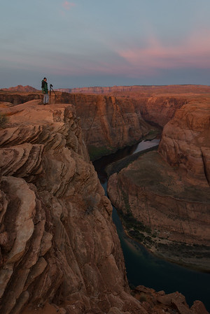 Scott Nagel at Horseshoe Bend - Colorado River near Page, AZ. 3/16