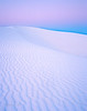 White sand dune at dawn