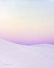Pastel sky and white dunes