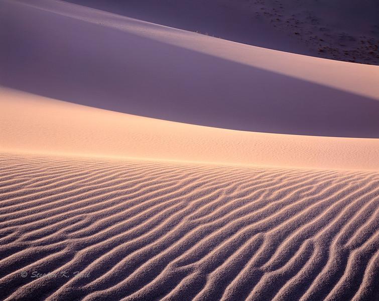 Sand dunes, evening, Eureka Valley