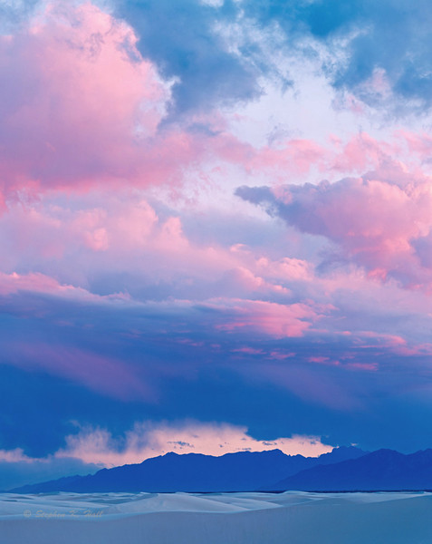 Winter sky, evening. White Sands and San Andres Mountains
