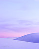 Pastel sky and white dunes, evening