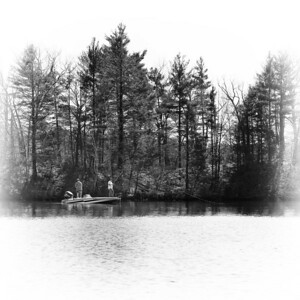 20120318.  Fishermen on Whitehall Reservoir, Hopkinton MA.