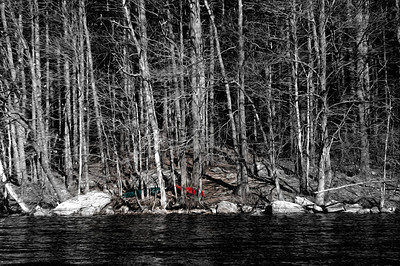 20120318.  Canoes on shore of Whitehall Reservoir, Hopkinton MA.