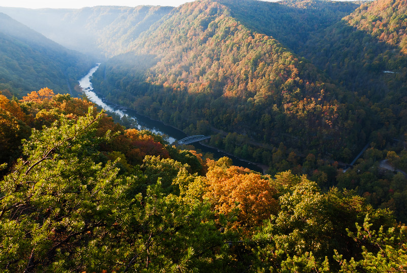 The New River Gorge in West Virginia