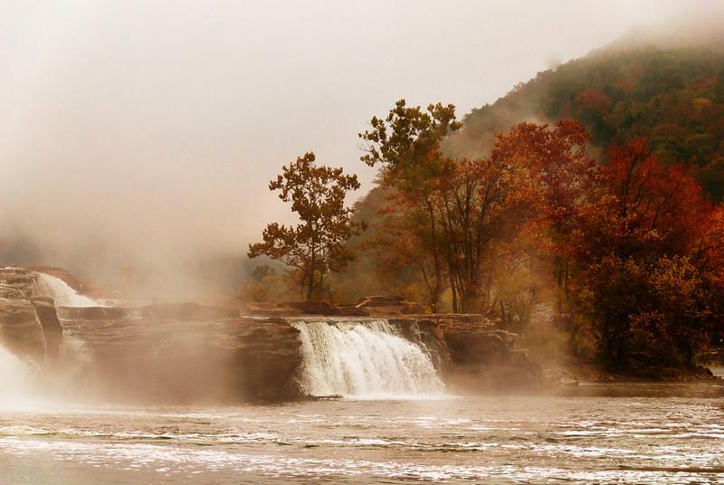When the morning dawns on Kanawha Falls