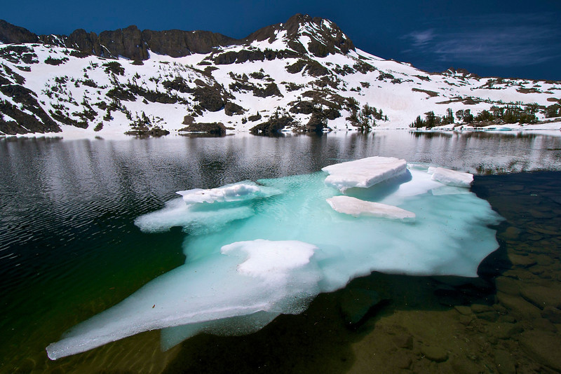 Iceberg, Round Top Peak, Winnemucca Lake, Mokelumne Wilderness