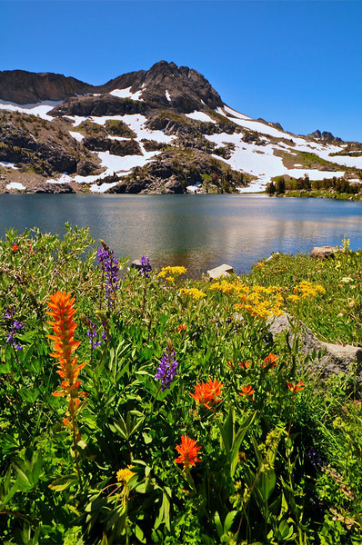 Round Top Peak, Winnemucca Lake, Mokelumne Wilderness
