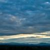 Mary's Peak dwarfed by blue skies near Corvallis, OR