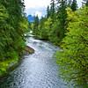 South Santiam river near Cascadia Park.