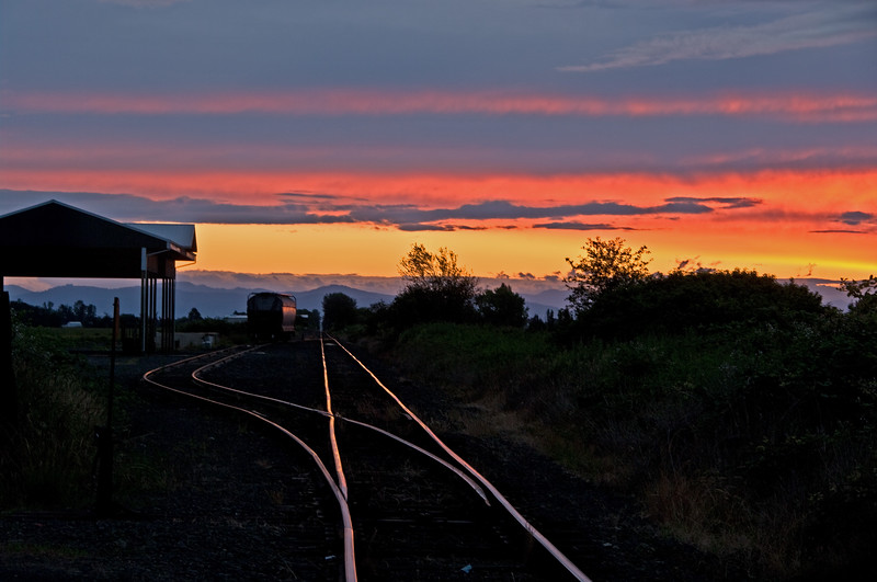 Tallman yard at sunset.  Tallman Oregon