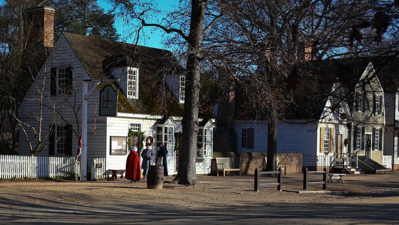 Colonial Williamsburg, Virginia just before Christmas.