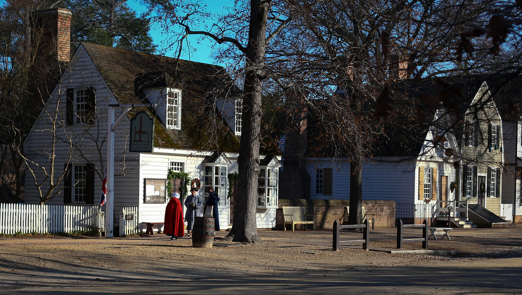 Colonial Williamsburg, Virginia just before Christmas.