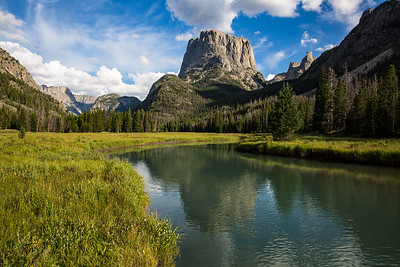 Squaretop Mountain, The Bottleneck, and Green River, Wind River Range, Wyoming