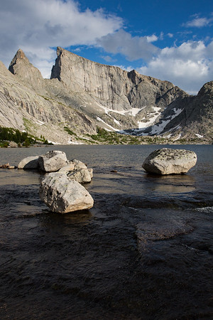 Deep Lake, Steeple Peak, and East Temple Peak, Wind River Range, Wyoming